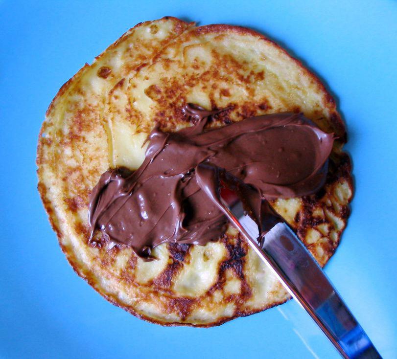 احلى كيك << اكيد جوكلت ;) Pancake-nutella_2